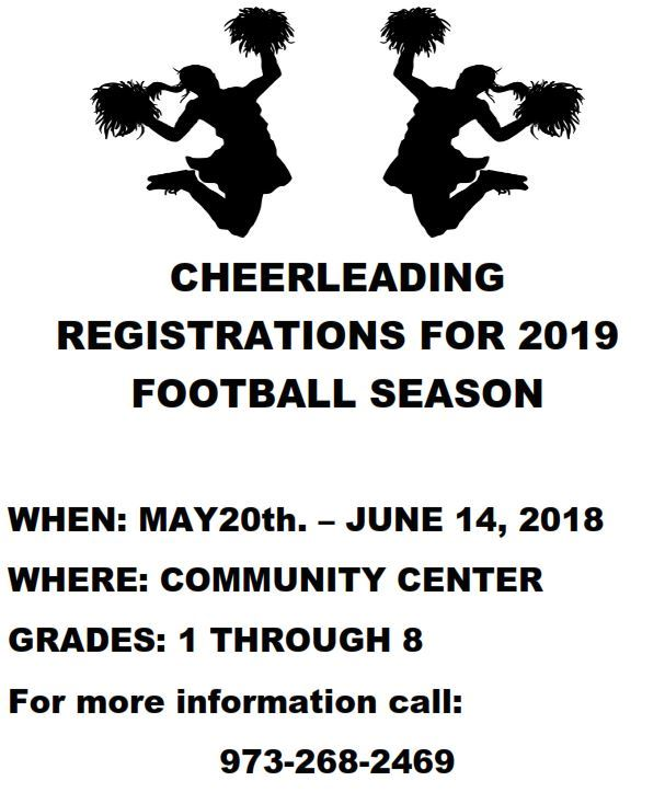 Cheerleading Registration CC